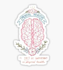 mental health brain Sticker