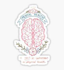 Gehirn der psychischen Gesundheit Sticker