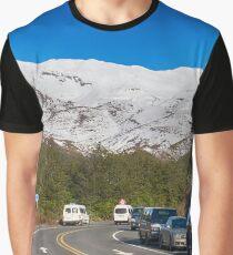 Mt Ruapehu Snow Graphic T-Shirt