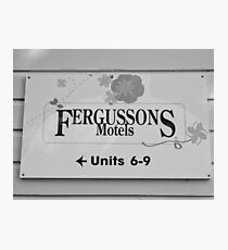 Fergussons Motels Photographic Print
