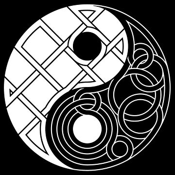 Yin Yang Celtic Knot Inverse by Thel0n