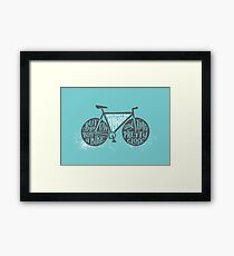 You Can't Buy Happiness (Teal) Framed Print