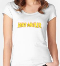 Jake Pauler Flames Team 10 Women's Fitted Scoop T-Shirt