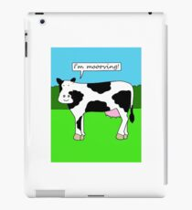 I'm moving, new home/house/premises cartoon cow. iPad Case/Skin