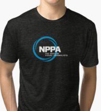 NEW NPPA SHUTTER SWIRL LOGO Tri-blend T-Shirt