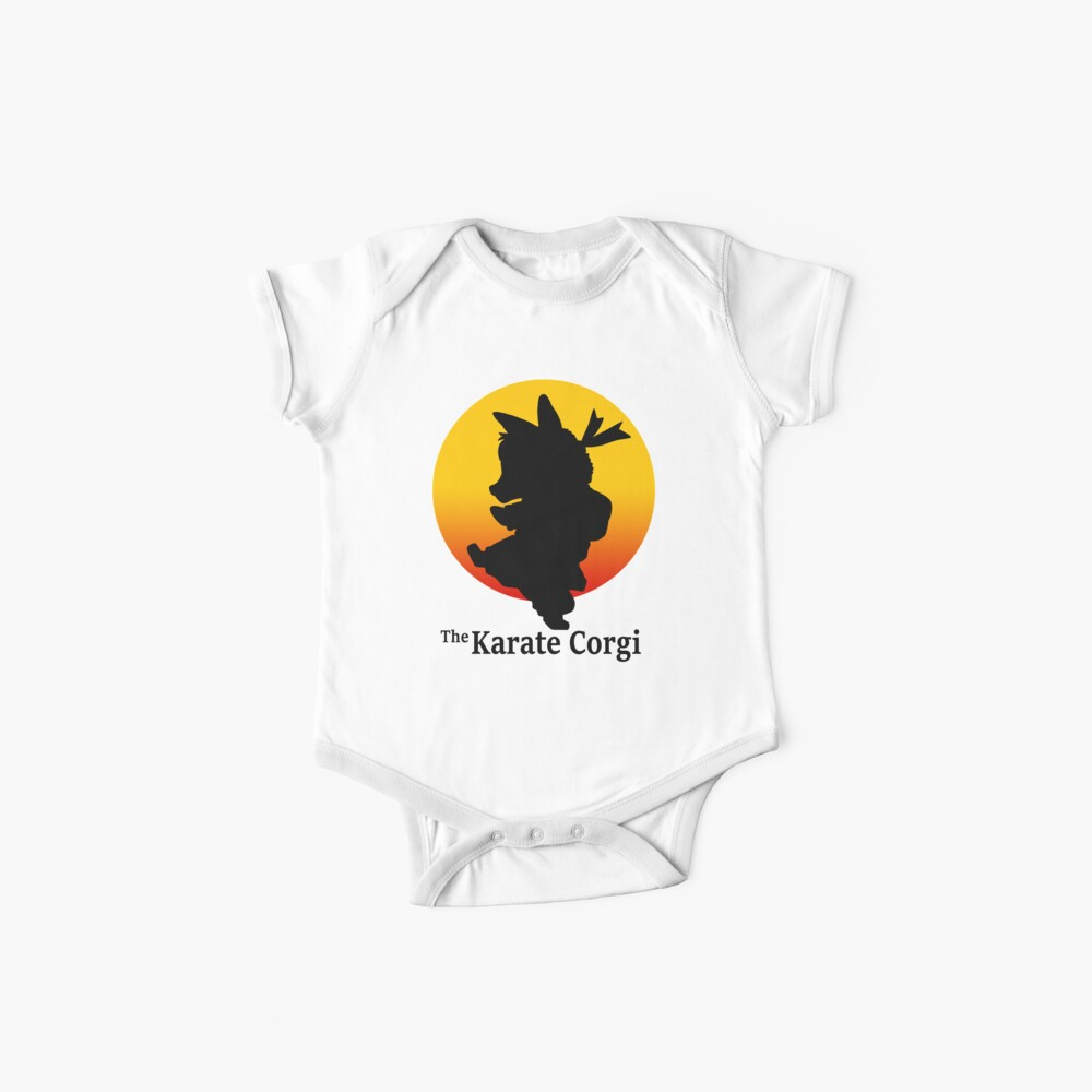 Der Karate Corgi Baby Bodys