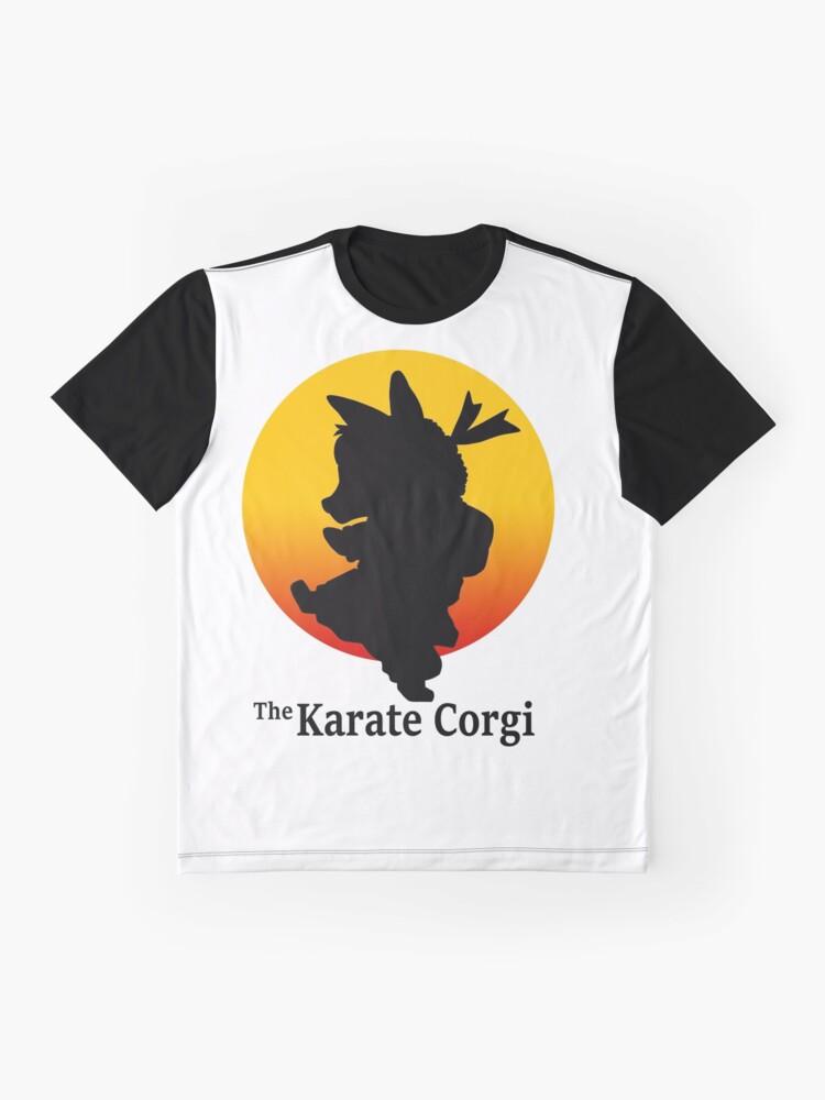 Alternative Ansicht von Der Karate Corgi Grafik T-Shirt
