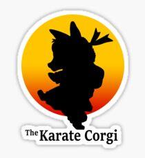 The Karate Corgi Sticker