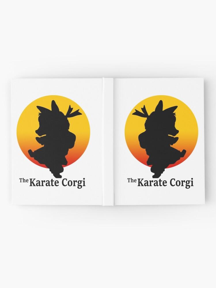 Alternative Ansicht von Der Karate Corgi Notizbuch