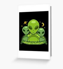 Allergic To Humans Greeting Card