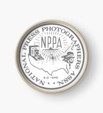 NPPA OLD SCHOOL LOGO Clock