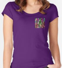colorful floral abstract Women's Fitted Scoop T-Shirt