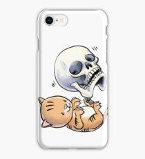Kitten and Skull iPhone Case/Skin