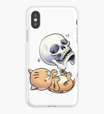 Kitten and Skull iPhone Case/Skin
