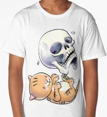 Kitten and Skull Long T-Shirt