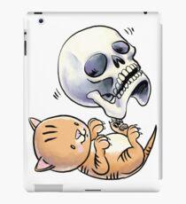 Kitten and Skull iPad Case/Skin
