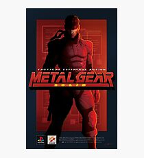 "Metal Gear Solid ""Snake"" Poster/Print Photographic Print"