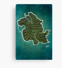 DHARMA Station Map Canvas Print