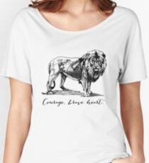 Courage, brave heart - Aslan - Chronicles of Narnia Women's Relaxed Fit T-Shirt