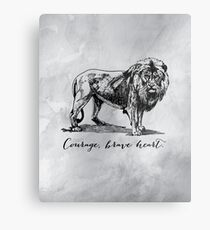 Courage, brave heart - Aslan - Chronicles of Narnia Metal Print