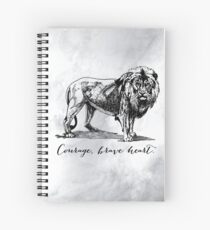 Courage, brave heart - Aslan - Chronicles of Narnia Spiral Notebook