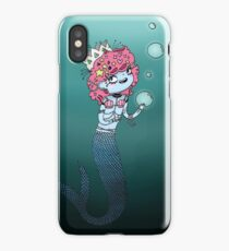 mermaid with bubbles iPhone Case