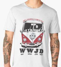 What Would Jesus Drive ? humble, economical & room for 12 Men's Premium T-Shirt