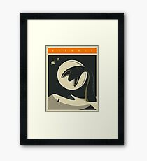 Arrakis Travel Poster Framed Print