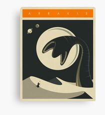 Arrakis Travel Poster Canvas Print