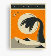 ARRAKIS TRAVEL POSTER Canvas Print