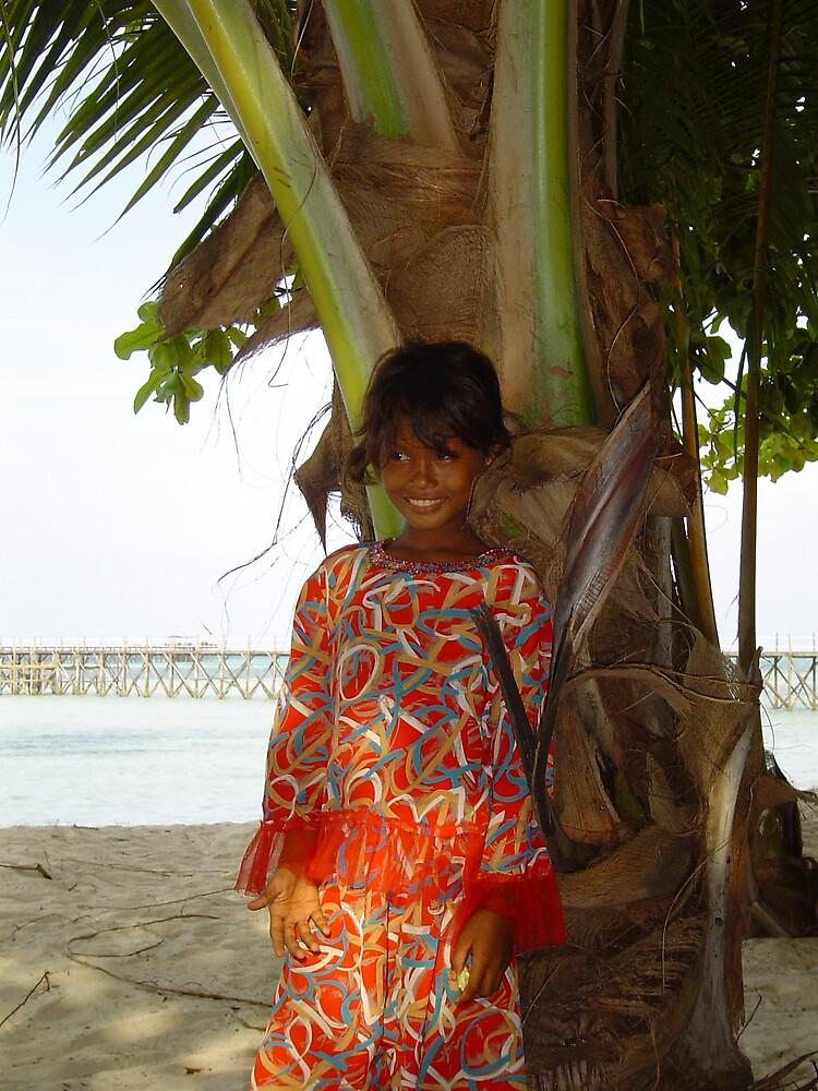 Local girl @ Mabul Island - Borneo by David Meyer