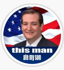 Dieser Mann hat meinen Sohn gegessen Sticker