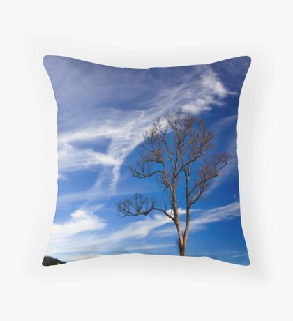 A Lonely Tree Throw Pillow