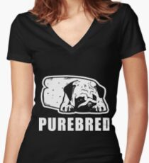 purebred Women's Fitted V-Neck T-Shirt