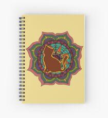 Cuaderno de espiral silueta de gato mandala
