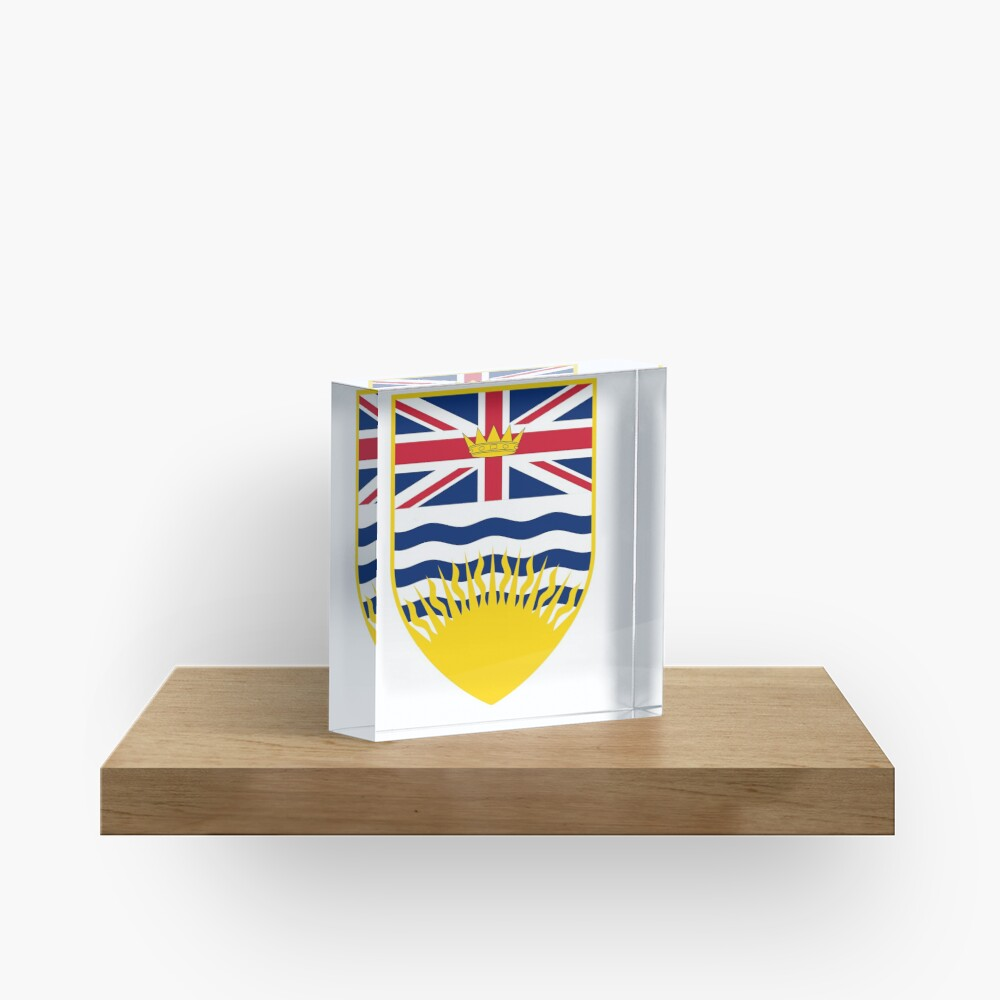 Escudo de armas de la Columbia Británica, Canadá Bloque acrílico