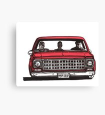 MMM DROP in red Canvas Print