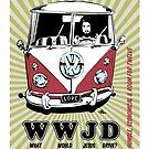 WWJD vintage poster by bulldawgdude