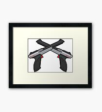 retro game controller  Framed Print