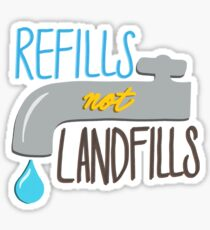 Refills Not Landfills Sticker