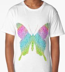 Rainbow Glitter Sparkle Butterfly Long T-Shirt