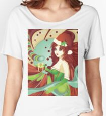 Santa girl in green corset Women's Relaxed Fit T-Shirt