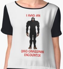 I Had An Ohio Grassman Encounter Chiffon Top