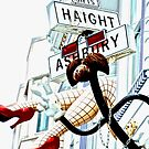 Haight Ashbury in High Key by Barbara  Brown