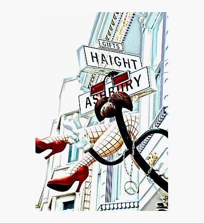 Haight Ashbury in High Key Photographic Print