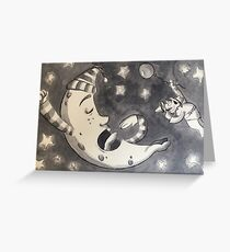 Examine the Moon Greeting Card