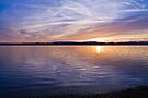 Lake reflections by Liz Percival