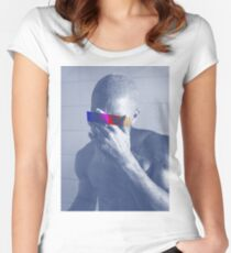 Blue Frank Censored Women's Fitted Scoop T-Shirt