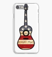 American Flag Guitar  iPhone Case/Skin