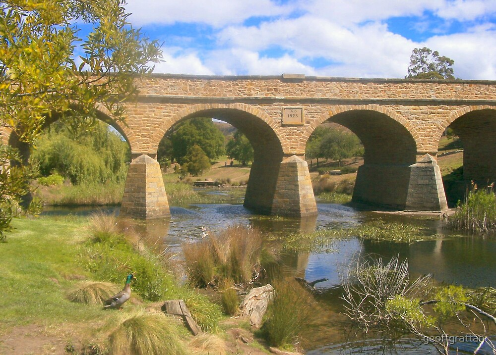 historic bridge at richmond tasmania by geoffgrattan